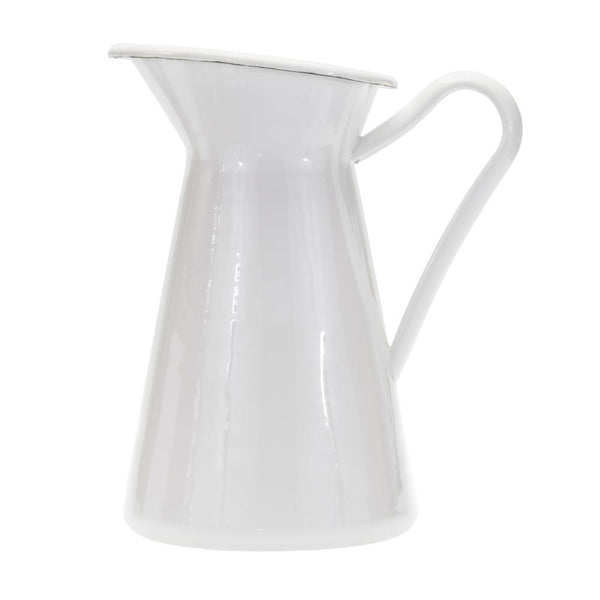 Solid White Pitcher
