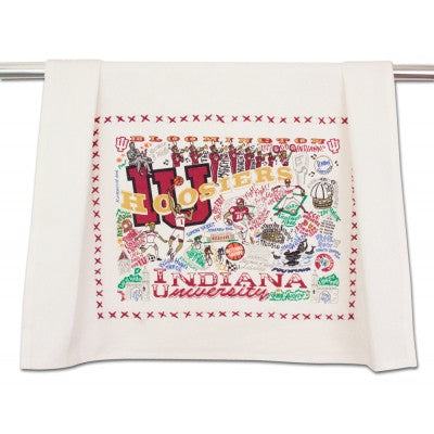 Cat Studio Embroidered Dish Towel - Indiana University