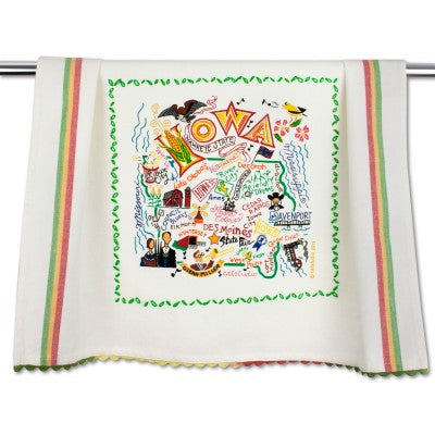 Cat Studio Embroidered Dish Towel - Iowa