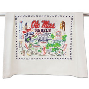 Cat Studio Embroidered Dish Towel - Ole Miss