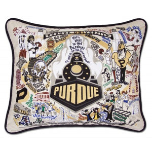 Cat Studio Embroidered Pillow - Purdue