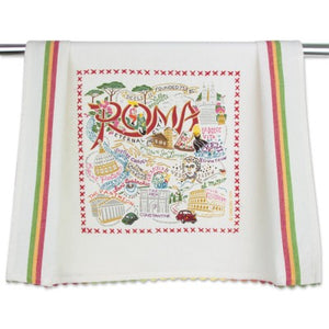 Cat Studio Embroidered Dish Towel - Roma