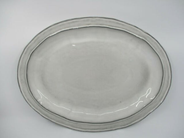 Casafina RETIRED Oval Platter WICKER PARK WHITE ~ SALE!