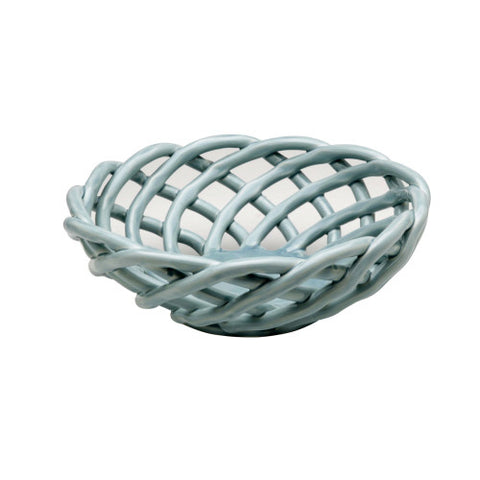Casafina Medium Round Basket Light Blue