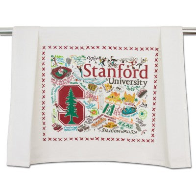 Cat Studio Embroidered Dish Towel - Stanford University