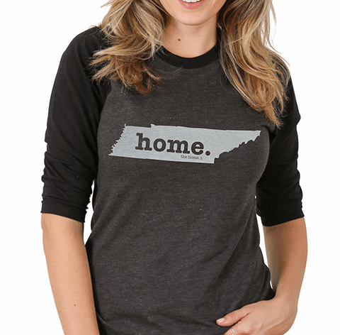 Home T Baseball Tee TN Large Grey