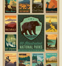 True South Puzzle 60 ILLUSTRATED NATIONAL PARKS ~ BEAR~