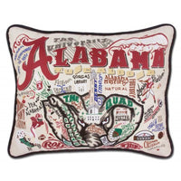 Catstudio Alabama, University of Collegiate Embroidered Pillow