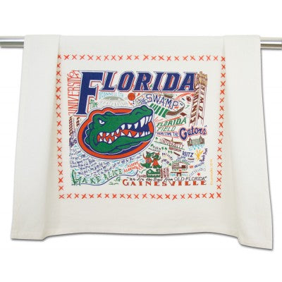 Cat Studio Embroidered Dish Towel - University of Florida