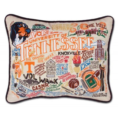 Cat Studio Embroidered Pillow - University of Tennessee