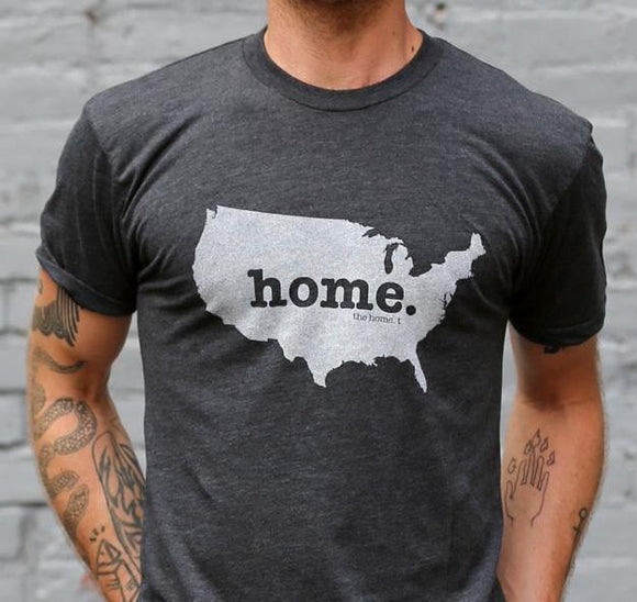 Home T Crew Neck Tee USA XS Grey