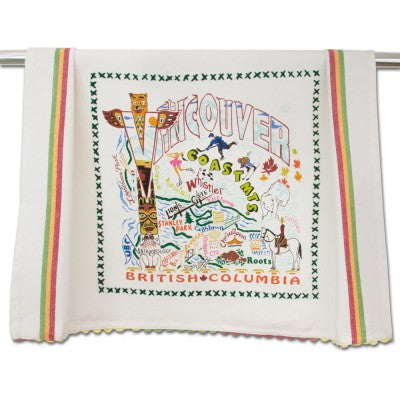 Cat Studio Embroidered Dish Towel - Vancouver