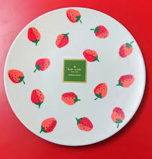 Strawberries Melamine Dinner Plate