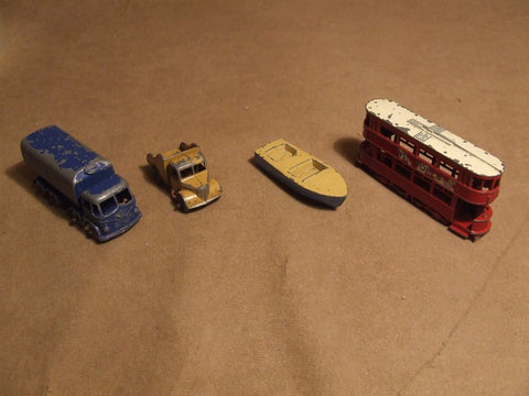 Lesney 4 Vehicle Bundle For Spares Or Repair Made In England Vintage 1960's - Vintage Retro And Vinyl - 1
