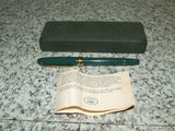 Laura Ashley Green & Gold Fountain Pen & Hard Case - Vintage Retro And Vinyl - 12