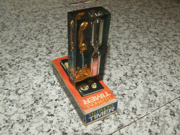 Lucite Telephone Timer - Boxed & VGC - Retro - Highly Collectable - Vintage Retro And Vinyl - 1