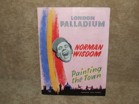 London Palladium Theatre Program 1950's Painting The Town - Norman Wisdom & Ruby Murray - Vintage Retro And Vinyl - 1