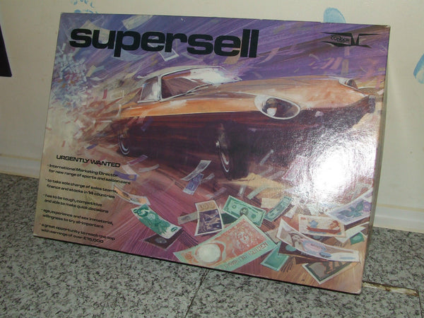 Supersell - The Money - Car - Power Game 1970's Condor Board Game - Vintage Retro And Vinyl - 1