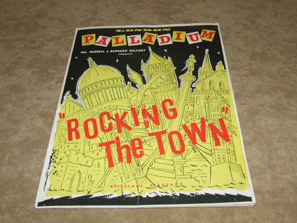 London Palladium Theatre Program 1956-Rocking The Town- Secombe, Cogan, Reid, Atwell - Vintage Retro And Vinyl - 1