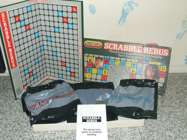 Spears Scrabble Rebus Complete With Rules - 1985 - Vintage Retro And Vinyl - 1