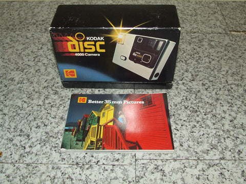 Kodak Disc 4000 Camera & Strap Boxed With Kodak Colour Better 35mm Pics - Vintage Retro And Vinyl - 1