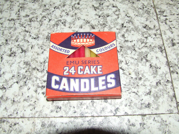 Cake Candles - Assorted Colours - Emu Series - British Made - Boxed - Vintage Retro And Vinyl - 1