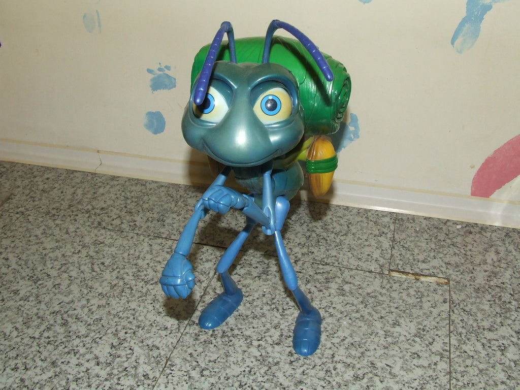 "A Bugs Life Action Flik Deluxe Moving & Talking 12"" Action Figure - Pixar/Disney - Vintage Retro And Vinyl - 1"