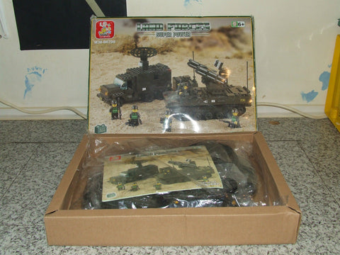 Sluban Land Forces Super Power Artillery M38-B6700 Age 6+ Unused 511 Pieces - Vintage Retro And Vinyl - 1