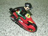 Teen Titan Robin Figure On Transforming Motorcycle - From Batman & Robin Series - Vintage Retro And Vinyl - 3