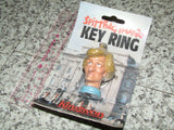 Spitting Image Lady Diana Princess Diana Key Ring Rare Mint On Card 1988 - Vintage Retro And Vinyl - 2
