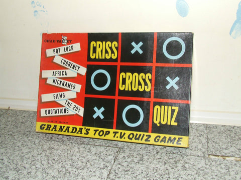 Chad Valley TV's Criss Cross Quiz Complete With Instructions 1950's - Vintage Retro And Vinyl - 1