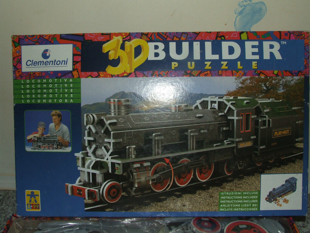 3D Builder Puzzle Locomotive Age 8-99 264 Pcs Boxed Complete - Vintage Retro And Vinyl - 1
