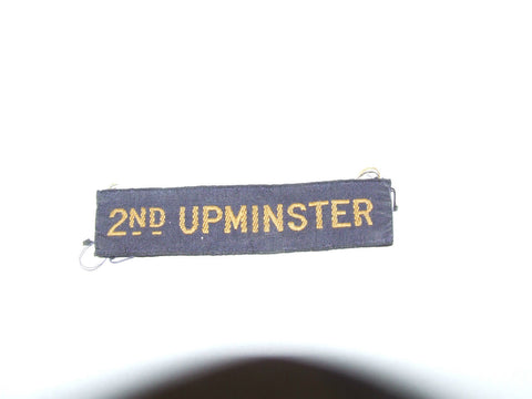 Vintage 1930's Brownies/Girl Guides Cloth Embroidered 2nd Upminster Badge Unused - Vintage Retro And Vinyl - 1