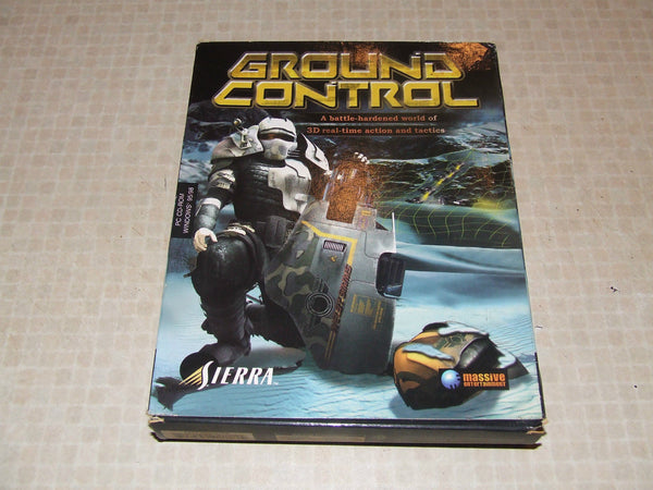 Ground Control PC Big Box Rare - Sierra Age 15+ Single & Multiplayer Classic - Vintage Retro And Vinyl - 1