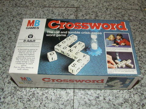 MB Games Crossword Game 1+ Players Complete Boxed VGC - Vintage Retro And Vinyl - 1