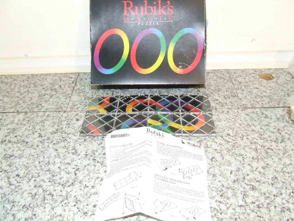 Matchbox Rubiks Magic Puzzle - Boxed Complete with Inner Tray - Vintage Retro And Vinyl - 1