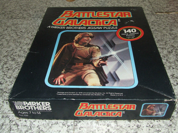 "Battlestar Galactica 140 Piece Jigsaw Comp & Boxed 14x18""- Starbuck - 1978 - Vintage Retro And Vinyl - 1"