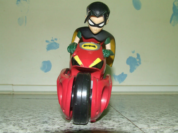 Teen Titan Robin Figure On Transforming Motorcycle - From Batman & Robin Series - Vintage Retro And Vinyl - 1