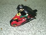 Teen Titan Robin Figure On Transforming Motorcycle - From Batman & Robin Series - Vintage Retro And Vinyl - 6