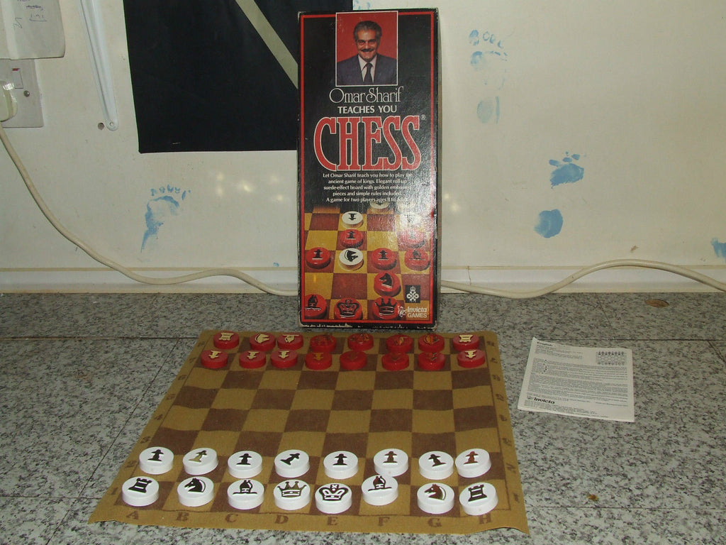 Omar Sharif Teaches You Chess ~ Boxed Complete ~ Invicta Games #3110 - Vintage Retro And Vinyl - 1