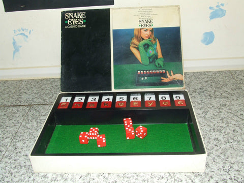 Vic-Toy Snake Eyes A Casino Game - Complete 1960's - Vintage Retro And Vinyl - 1