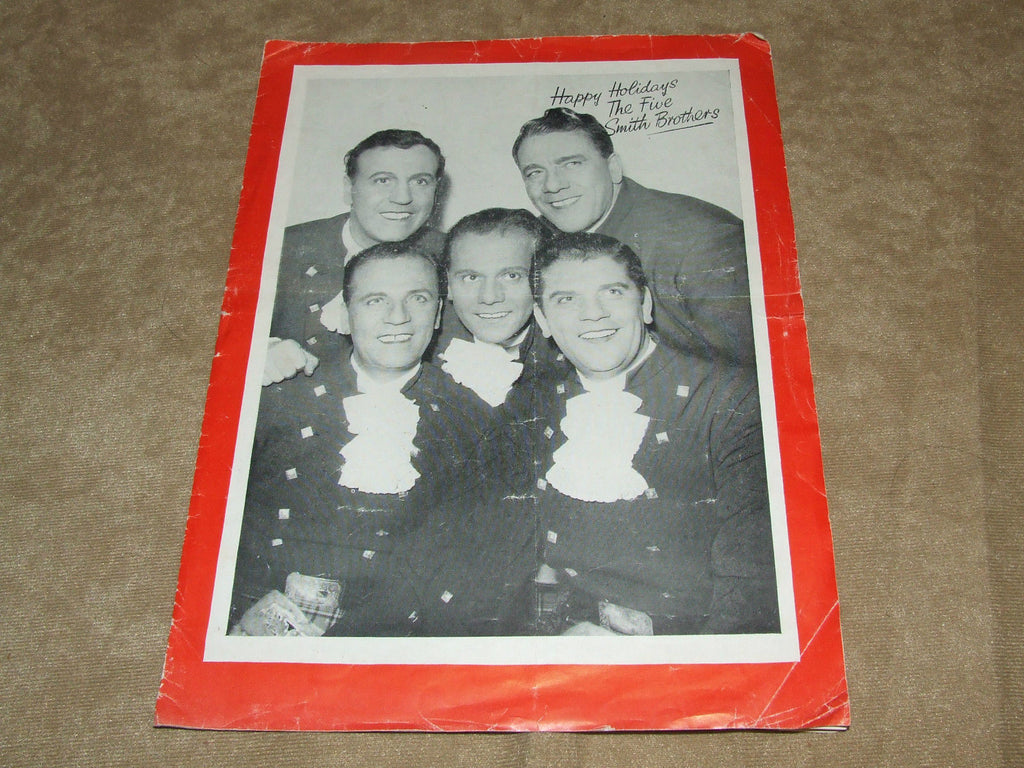 The Windmills 1954 Summer Season Show Gt Yarmouth - The Five Smith Brothers - Vintage Retro And Vinyl - 1