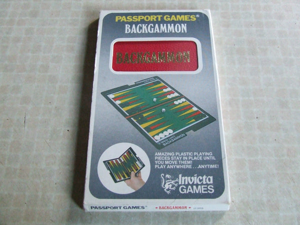 Invicta Games Passport Series Backgammon Boxed With Instructions 1973 - Vintage Retro And Vinyl - 1