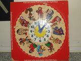 Nursery Rhyme Wooden Clock ~ JigSaw ~ Condor - Vintage Retro And Vinyl - 7