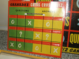 Chad Valley TV's Criss Cross Quiz Complete With Instructions 1950's - Vintage Retro And Vinyl - 8