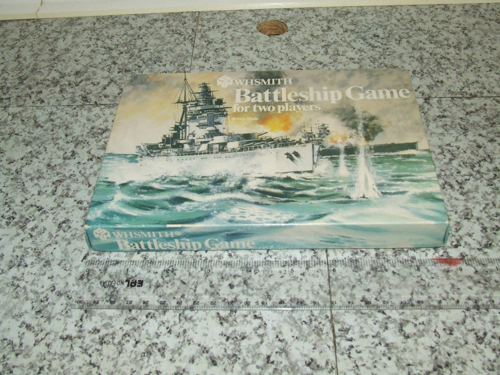 WH Smith Battleships Game Barely Used If At All - 2 Players Boxed - Vintage Retro And Vinyl - 1
