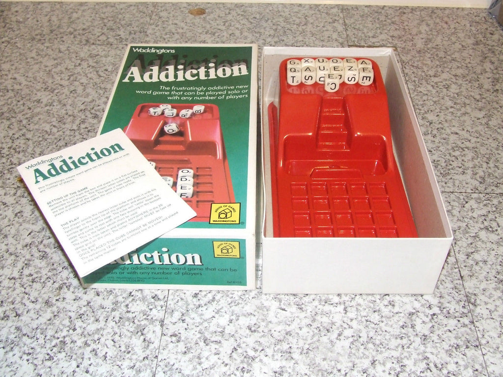 Waddingtons Addiction Word Game Boxed & Complete With Instructions - Vintage Retro And Vinyl - 1