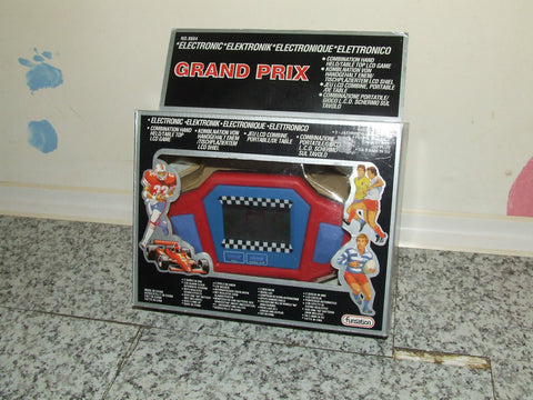 Grand Prix Elec Combination Hand Held/Table Top LCD Game/Alarm - Vintage Retro And Vinyl - 1