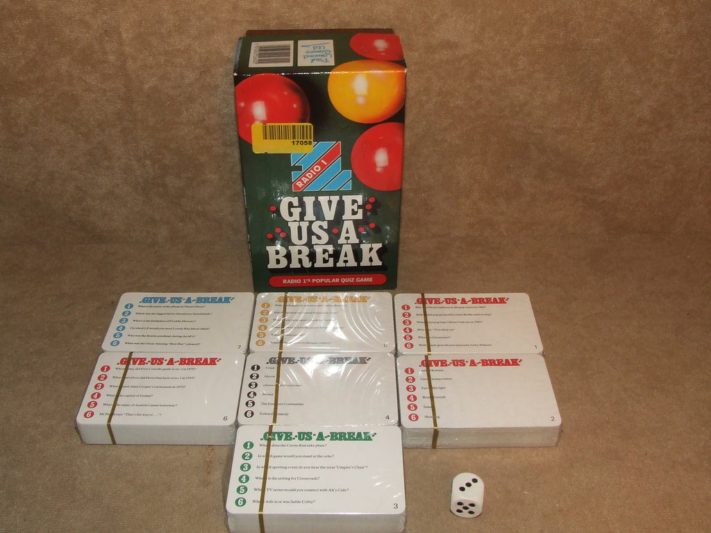 BBC Radio 1's Give Us A Break 6 Out Of 7 Card Packs Sealed Boxed And Complete - Vintage Retro And Vinyl - 1
