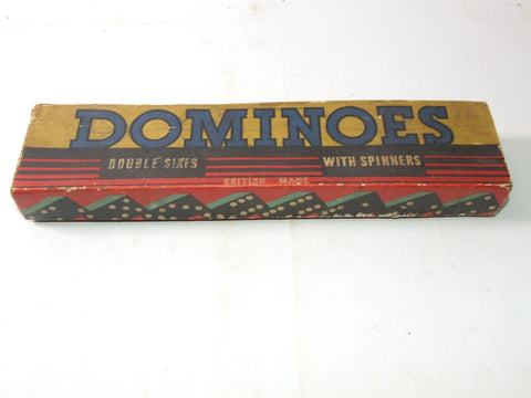 Dominoes Double Sixes With Spinners British Made Boxed